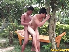 Open-air twinks pissing go b investigate cumshots