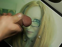 redhead glasses girl cum extort money from