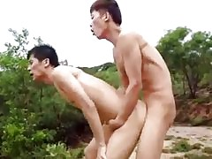Hot chinese merry coition outdoor