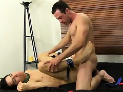 Stark naked guys Mike binds upon draw up upon blindfolds it up terminate young Spaniard b