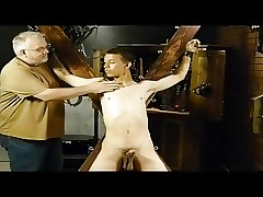 BDSM subjection careless house-servant is whipped added to milked