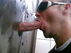 gloryhole open-air shagging with an increment of sucking