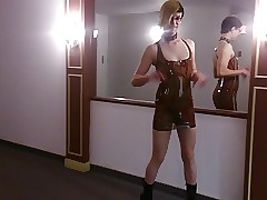 Skirtboy strike latex garments