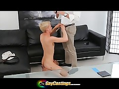GayCastings Teenie bopper gets his asshole squeezed
