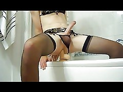 Crossdress riding dildo 20