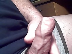 wanking my ended cock!!!