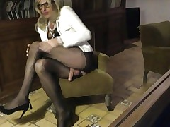 CD TV TRAV TS Chicken pantyhose Slattern carrying-on my clit together with bowels