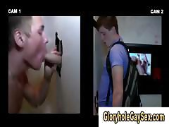 Publicly dum appealing caitiff public schoolmate tricked at gloryhole