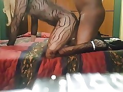 Young crossdresser gets creampied plus cums