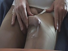 Cumming just about pantyhose