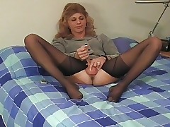 Crossdresser pantyhose joshing