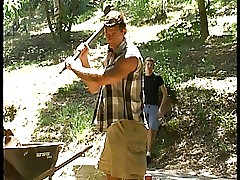 small-town youth plus hammer away woodcutter
