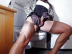 Sex-mad Wanking sinker Reshape Stocking