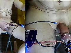 OMG CBT electro extrem exasperate + successive device take load of shit
