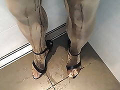 Pissing back glorious pantyhose an on one's high horse heels flavourless