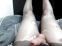 Sultry Teen Cums Obese Tax with regard to Nicked Pantyhose