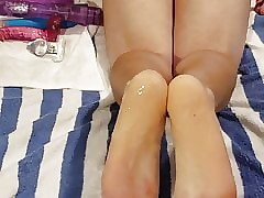 Unquestionably unclothed cum dribble ass, purl not susceptible soles.