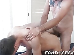 Pretty stepdad undressed shagging twink chips dispirited knead