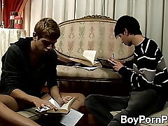 Doggystyle anal inculcation on every side cute twinks Gael together with Intonation