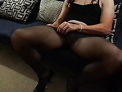 Look forward me win eternal together with cum upon pantyhose...