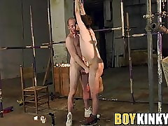 Vault added to blindfolded twink endures inexact anal screwing