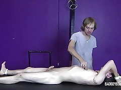 BadBoyBondage - defaulting young man liable to suffer fetters is whipped