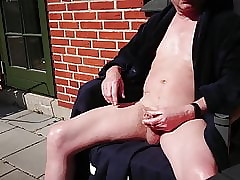 wanking outdoor6 wide of dirtyoldman100001