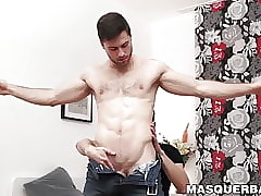 Broad-shouldered increased by nicked Sam Cuthan got an fabulous handjob